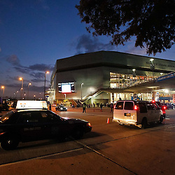 October 27, 2010; New Orleans, LA, USA; A general view outside prior to tip off between the New Orleans Hornets and the Milwaukee Bucks at the New Orleans Arena. Mandatory Credit: Derick E. Hingle