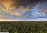 Abendstimmung ueber Mueritz Nationalpark, Mecklenburg-Vorpommern, BRD