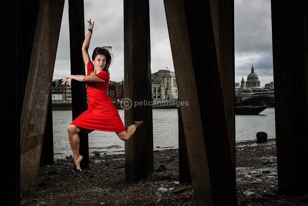 Dancer Aude Florentin at South Bank London, September 2015.