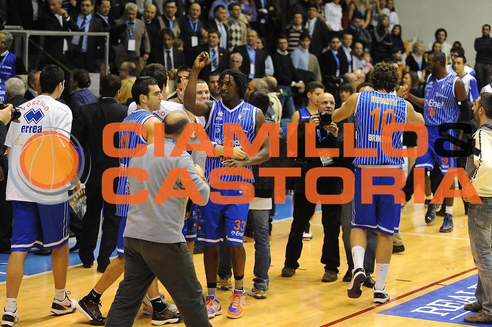 DESCRIZIONE : Sassari Lega A2 2009-10 Final Four Coppa Italia Semifinale Banco di Sardegna Sassari Enel Brindisi<br /> GIOCATORE : Team Brindisi<br /> SQUADRA : Enel Brindisi<br /> EVENTO : Campionato Lega A2 2009-2010<br /> GARA : Banco di Sardegna Sassari Enel Brindisi<br /> DATA : 06/03/2010<br /> CATEGORIA : Esultanza<br /> SPORT : Pallacanestro<br /> AUTORE : Agenzia Ciamillo-Castoria/GiulioCiamillo<br /> Galleria : Lega Basket A2 2009-2010  <br /> Fotonotizia : Sassari Lega A2 2009-2010 Final Four Coppa Italia Semifinale Banco di Sardegna Sassari Enel Brindisi<br /> Predefinita :