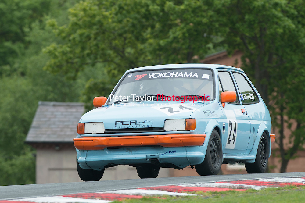#24 Steven Gray, Ford Fiesta XR2 during BRSCC XR Challenge and Scottish Fiesta Championship as part of the BRSCC Club Car Championships at Oulton Park, Little Budworth, Cheshire, . May 23 2015. World Copyright Peter Taylor/PSP. Copy of publication required for printed pictures.  Every used picture is fee-liable. http://archive.petertaylor-photographic.co.uk