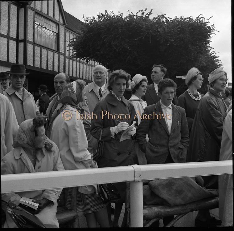 R.D.S. Horse Show, Tuesday, Prince and Princess de Ligne of Belgium at R.D.S..08.08.1961