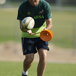 PORT ELIZABETH, SOUTH AFRICA - AUGUST 18, Jacque Nienaber during the South African national rugby team training session and press conference at Nelson Mandela Bay Stadium on August 18, 2011 in Port Elizabeth, South Africa<br /> Photo by Steve Haag / Gallo Images
