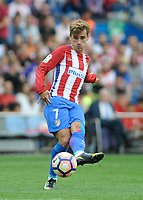 Atletico de Madrid Forward, Antonie Griezmann - GRIEZMANN, number 7 . Round 4 of the SANTANDER league, soccer match between Atletico de Madrid - Real Sporting de Gijon at the Vicente Calderon estadium, Madrid - Spain (ESP) by September 17, 2016