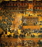 Auto de Fe, painted by Francisco Ricci in 1683. A scene in the Plaza Mayor, Madrid, 30 June, 1680, during the Spanish Inquisition.