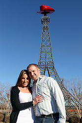 Mike and Danielle got engaged at the Eiffel Tower replica in Paris, Texas on Jan. 19, 2012.