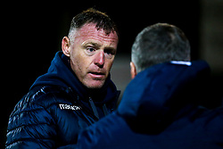 Bristol Rovers manager Graham Coughlan attends The FA Youth Cup fixture between Bristol Rovers Under 18s and Swindon Town Under 18s - Mandatory by-line: Robbie Stephenson/JMP - 29/10/2019 - FOOTBALL - County Ground - Swindon, England - Swindon Town v Bristol Rovers - FA Youth Cup Round One