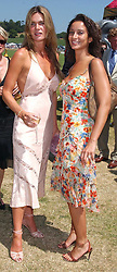 Left to right, CELIA WALDEN and KIKI KING at the Veuve Clicquot sponsored Gold Cup Final or the British Open Polo Championship held at Cowdray Park, West Sussex on 17th July 2005.<br />