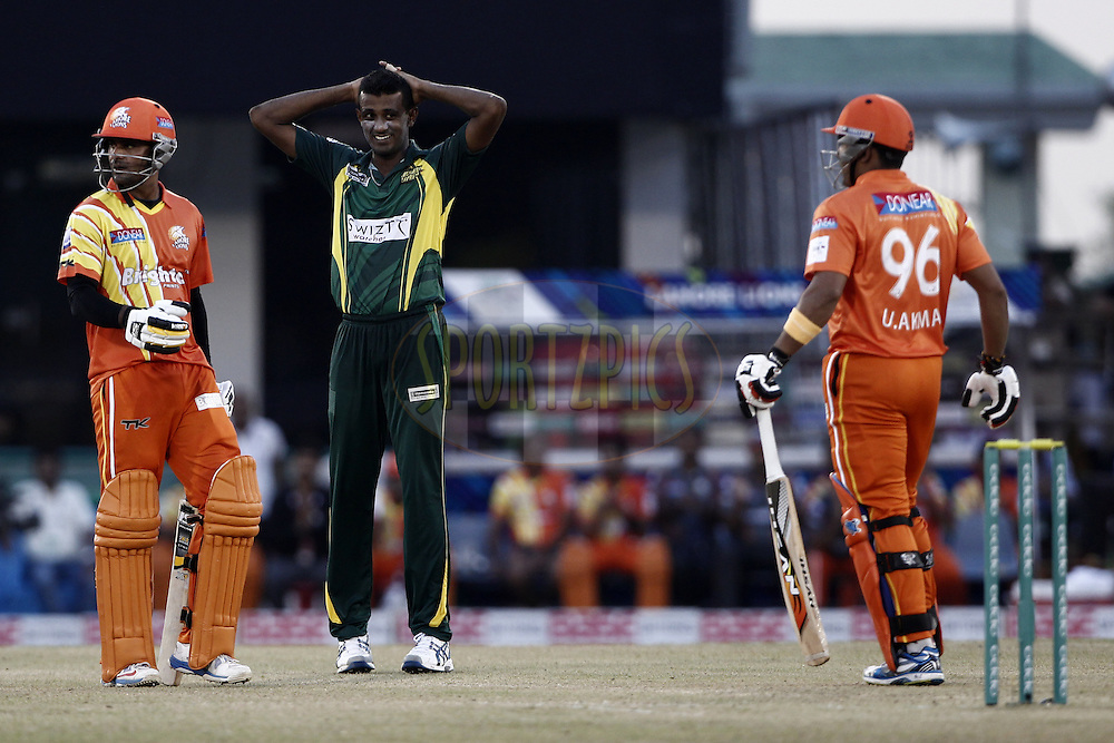 during the qualifier 5 match of the Oppo Champions League Twenty20 between the Southern Express and the Lahore Lions held at the Chhattisgarh International Cricket Stadium, Raipur, India on the 16th September 2014<br /> <br /> Photo by:  Deepak Malik / Sportzpics/ CLT20<br /> <br /> <br /> Image use is subject to the terms and conditions as laid out by the BCCI/ CLT20.  The terms and conditions can be downloaded here:<br /> <br /> http://sportzpics.photoshelter.com/gallery/CLT20-Image-Terms-and-Conditions-2014/G0000IfNJn535VPU/C0000QhhKadWcjYs