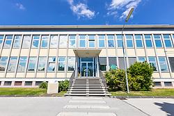 """17.05.2019, Atominstitut, Wien, AUT, Atominstitut wird zur """"EPS Historic Site"""" erhoben, im Bild der Eingang // The Atominstitut in Vienna will be an EPS Historic Site, Austria on 2019/05/17. EXPA Pictures © 2019, PhotoCredit: EXPA/ Sebastian Pucher"""
