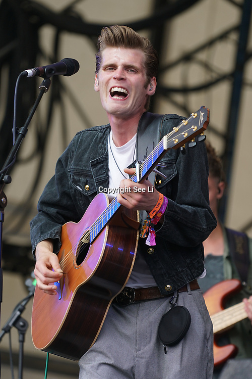 London, England, UK. 16th July 2017. Hudson Taylor performs at the Citadel Festival at Victoria Park, London, UK.