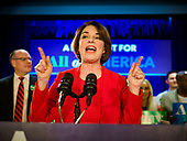 Campaign 2020: Caucus Night at Amy Klobuchar's Party