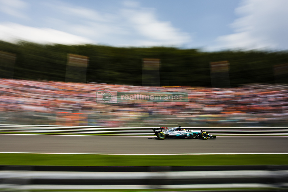 August 27, 2017 - Spa, Belgium - 44 HAMILTON Lewis from Great Britain of team Mercedes GP during the Formula One Belgian Grand Prix at Circuit de Spa-Francorchamps on August 27, 2017 in Spa, Belgium. (Credit Image: © Xavier Bonilla/NurPhoto via ZUMA Press)