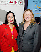Eva Hannon, Headford  and Michelle  Cosgrove, Grunenthal  at the Radisson Blu, Galway for the Assessing & Managing Pain, A Nursing Perspective lecture. Photo:Andrew Downes