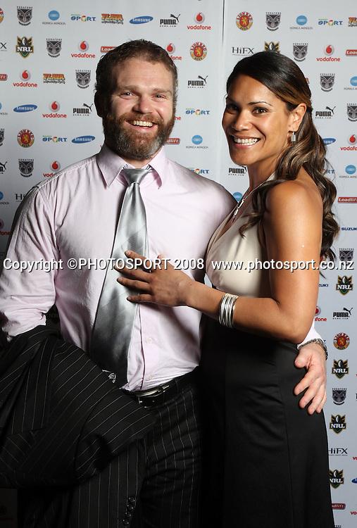 Vodafone Warrior's annual awards, Sky City Convention Centre, Auckland. 16 September 2008. Photo: Andrew Cornaga/PHOTOSPORT