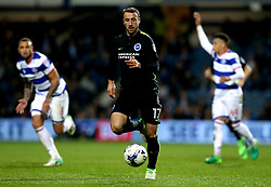 Glenn Murray of Brighton & Hove Albion runs onto the ball - Mandatory by-line: Robbie Stephenson/JMP - 07/04/2017 - FOOTBALL - Loftus Road - Queens Park Rangers, England - Queens Park Rangers v Brighton and Hove Albion - Sky Bet Championship