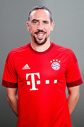 16.07.2015, Saebener Strasse, Muenchen, GER, 1. FBL, FC Bayern Muenchen, Fototermin, im Bild Franck Ribery #7 (FC Bayern Muenchen) // during the official Team and Portrait Photoshoot of German Bundesliga Club FC Bayern Munich at the Saebener Strasse in Muenchen, Germany on 2015/07/16. EXPA Pictures © 2015, PhotoCredit: EXPA/ Eibner-Pressefoto/ Kolbert<br /> <br /> *****ATTENTION - OUT of GER*****