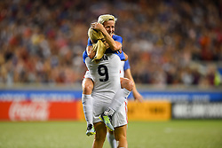 September 19, 2017 - Cincinnati, OH, USA - Cincinnati, OH - Tuesday September 19, 2017: Megan Rapinoe, Lindsey Horan celebrate during an International friendly match between the women's National teams of the United States (USA) and New Zealand (NZL) at Nippert Stadium. (Credit Image: © Brad Smith/ISIPhotos via ZUMA Wire)