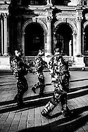 March 2015. Louvre museum, Paris. Just after Charlie Ebdo attacks some important parts of the city are protected by military forces.