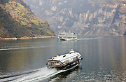Hydrofoil passenger transport on Yangze River, China
