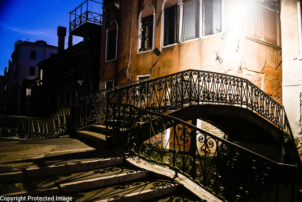 Venice, Italy at night, Cannaregio district