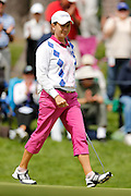 CATRIONA MATTHEW on the 12th green at the LPGA Championship at Monroe Golf Club in Pittsford, New York on August 15, 2014.