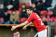Swindon Town Defender, Raphael Rossi Branco (29) during the EFL Sky Bet League 1 match between Swindon Town and Southend United at the County Ground, Swindon, England on 2 January 2017. Photo by Adam Rivers.