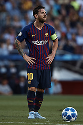 September 18, 2018 - Barcelona, Barcelona, Spain - Leo Messi of FC Barcelona prior to a free kick during the UEFA Champions League group B match between FC Barcelona and PSV Eindhoven at Camp Nou on September 18, 2018 in Barcelona, Spain  (Credit Image: © David Aliaga/NurPhoto/ZUMA Press)