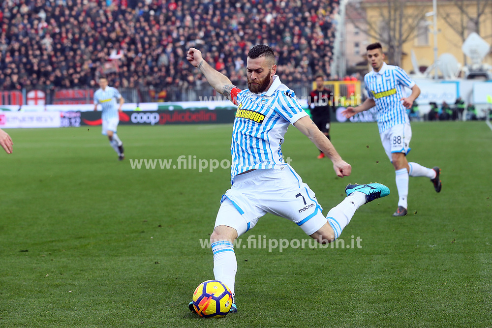 "Foto Filippo Rubin<br /> 10/02/2018 Ferrara (Italia)<br /> Sport Calcio<br /> Spal - Milan - Campionato di calcio Serie A 2017/2018 - Stadio ""Paolo Mazza""<br /> Nella foto: MIRCO ANTENUCCI (SPAL) <br /> <br /> Photo by Filippo Rubin<br /> February 10, 2018 Ferrara (Italy)<br /> Sport Soccer<br /> Spal vs Milan - Italian Football Championship League A 2017/2018 - ""Paolo Mazza"" Stadium <br /> In the pic: MIRCO ANTENUCCI"