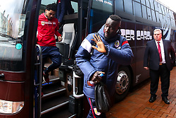 Famara Diedhiou of Bristol City arrives at Ewood Park for the Sky Bet Championship fixture against Blackburn Rovers - Mandatory by-line: Robbie Stephenson/JMP - 09/02/2019 - FOOTBALL - Ewood Park - Blackburn, England - Blackburn Rovers v Bristol City - Sky Bet Championship