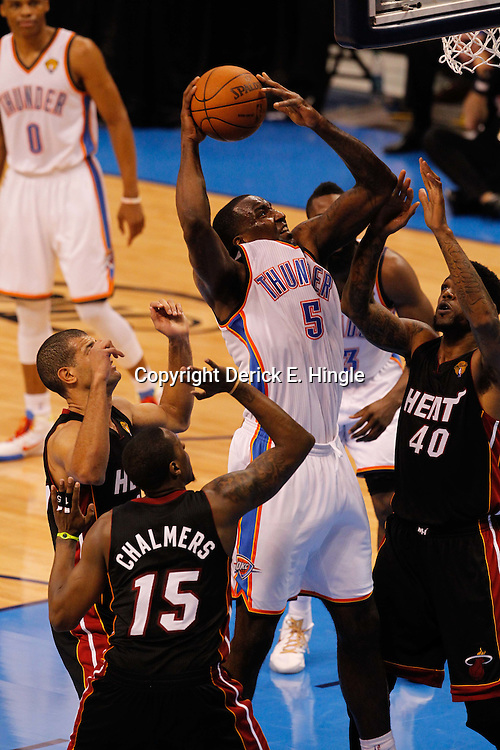 Jun 14, 2012; Oklahoma City, OK, USA;  during the third quarter of game two in the 2012 NBA Finals at Chesapeake Energy Arena. Mandatory Credit: Derick E. Hingle-US PRESSWIRE