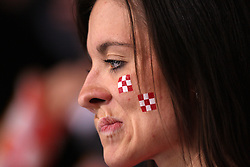 Fan of Croatia during 21st Men's World Handball Championship 2009 Main round Group I match between National teams of France and Croatia, on January 27, 2009, in Arena Zagreb, Zagreb, Croatia.  (Photo by Vid Ponikvar / Sportida)