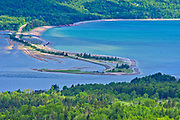 Causeway. Cabot Trail. Cape Breton Island. <br />