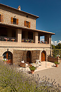 Villa San Donato in Italy, on the border between Tuscany and Lazio.  The lower terrace pergola/games area.