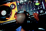 Man djing, DJ Lerouge. 18th June 1997. Jazz Cafe