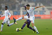 Lucas Ocampos during the French Championship Ligue 1 football match between Olympique de Marseille and Toulouse FC on September 24, 2017 at Orange Velodrome stadium in Marseille, France - Photo Philippe Laurenson / ProSportsImages / DPPI