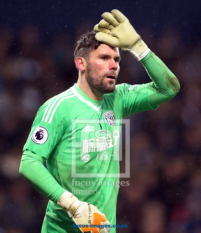 Ben Foster of West Bromwich Albion during the Premier League match at The Hawthorns, West Bromwich<br /> Picture by Simon Moore/Focus Images Ltd 07807 671782<br /> 03/02/2018