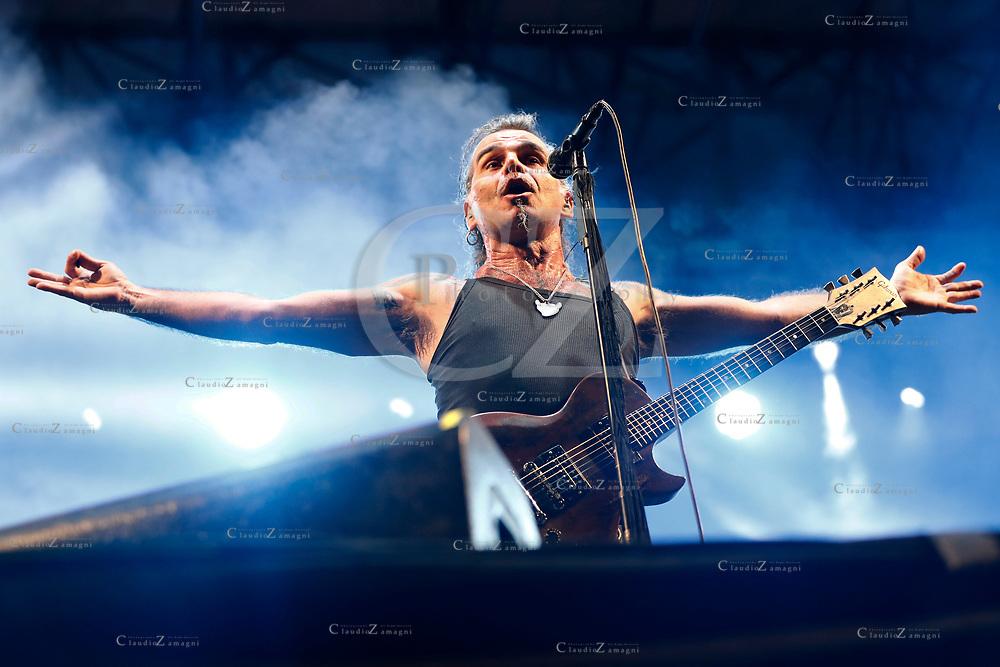 Litfiba Eut&ograve;pia Tour 07/07/2017 <br /> nella foto: Piero Pelu'<br /> &copy;Claudio Zamagni/