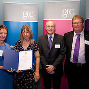 Images from the 2014 GTSC Probabtion Event Pictured are Jackie Brock (Chief Executive of Children First), Claire Greig (Fife),,Ken Muir (Chief Executive GTCS) and Derek Thompson (Convener GTCS). Thursday 12th June 2014.