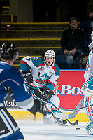 KELOWNA, CANADA - MARCH 11: Lucas Johansen #7 of the Kelowna Rockets skates with the puck against the Victoria Royals on March 11, 2017 at Prospera Place in Kelowna, British Columbia, Canada.  (Photo by Marissa Baecker/Shoot the Breeze)  *** Local Caption ***