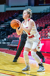 NORMAL, IL - November 20: Mary Crompton buries a three during a college women's basketball game between the ISU Redbirds and the Huskies of Northern Illinois November 20 2019 at Redbird Arena in Normal, IL. (Photo by Alan Look)