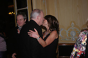 David Gilmour and Sarah Miller. Conde Nast Traveller Tsunami Appeal dinner. Four Seasons  Hotel. Hamilton Place, London W1. 2 March 2005. ONE TIME USE ONLY - DO NOT ARCHIVE  © Copyright Photograph by Dafydd Jones 66 Stockwell Park Rd. London SW9 0DA Tel 020 7733 0108 www.dafjones.com