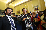 Dundee manager Paul Hartley and Gavin Rae enter the civic reception - Dundee FC civic reception at Dundee City Chambers<br /> <br />  - &copy; David Young - www.davidyoungphoto.co.uk - email: davidyoungphoto@gmail.com