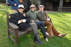 Left to right, CARYN MANDABACH, ISABELLA MACPHERSON and MILES MORLAND at the Finch & Partners Clay Pigeon Shoot in aid of Battersea Dogs Home at the Holland & Holland Shooting Ground, Ruislip, Middlesex on 17th October 2007.<br />