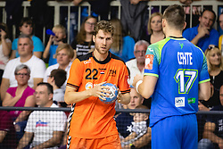 Jasper Adams of Nederland during friendly handball match between Slovenia and Nederland, on October 25, 2019 in Športna dvorana Hardek, Ormož, Slovenia. Photo by Blaž Weindorfer / Sportida