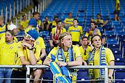 LUBLIN, POLAND - 2017-06-22: Svenska fans deppar efter UEFA U21 matchen mellan Slovakien och Sverige p&aring;  Arena Lublin den 22 juni, 2017 i Lublin, Polen. <br /> Foto: Nils Petter Nilsson/Ombrello<br /> Fri anv&auml;ndning f&ouml;r kunder som k&ouml;pt U21-paketet.<br /> Annars Betalbild.<br /> ***BETALBILD***