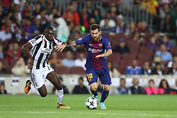 September 12, 2017 - Barcelona, Spain - Lionel Messi of FC Barcelona duels for the ball with Blaise Matuidi of Juventus during the UEFA Champions League, Group D football match between FC Barcelona and Juventus FC on September 12, 2017 at Camp Nou stadium in Barcelona, Spain. (Credit Image: © Manuel Blondeau via ZUMA Wire)