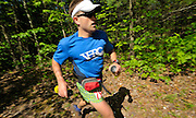 Keith Knipling, from Washington D.C., keeps up a grueling pace during the  Massanutten Mountain Trails 100 Mile run (MMT 100) May 17, 2008..Knipling completed the race in 21:07:47 and was second overall. .The  race is considered one of the toughest Ultra Marathons on the east coast. The  Massanutten Mountain Trails 100 Mile run (MMT 100) May 17, 2008.<br /> The  race is considered one of the toughest Ultra Marathons on the east coast.