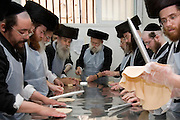 In order for the matza to be Kosher strict baking procedures must be followed, All hand made and under a strict watch of the Rabbi, April 2006