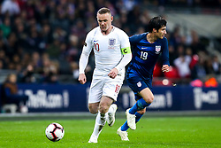 Wayne Rooney of England takes on Kenny Saief of USA - Mandatory by-line: Robbie Stephenson/JMP - 15/11/2018 - FOOTBALL - Wembley Stadium - London, England - England v United States of America - International Friendly